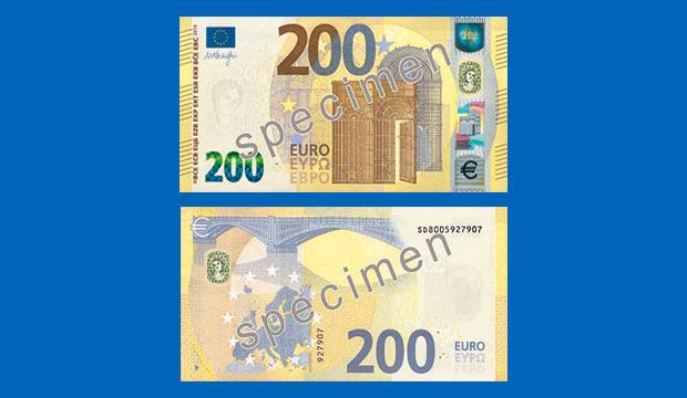 Neue 100- und 200-Euro-Scheine